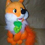 Мягкая игрушка лисица, поющая на русском языке. Подарок для ребёнка.