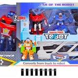 714AB Набор роботов-трансформеров Tobot с трейлером