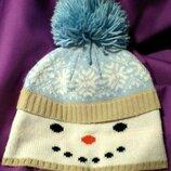 Шапка снеговик