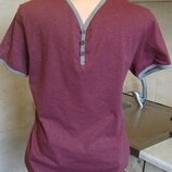 футболка сиренево-серая Flip Back S 60%котон, 40%полиэстер