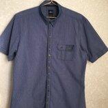 Мужская фирменная рубашка на коротком рукаве, slim fit. Германия.