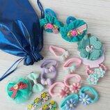 Подарочный набор украшений для волос для девочки, заколки, резинки