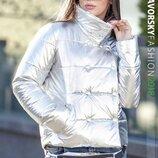 Куртка весна серебро