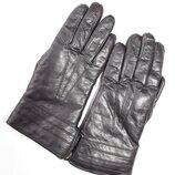 Шикарные кожаные зимние перчатки .