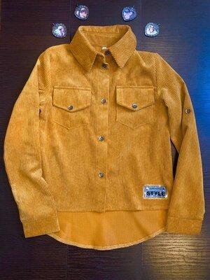 Вельветова рубашка для дівчат в наявності р.134-152см
