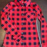 Рубашка в клітку для дівчат підлітків р.134-152см