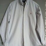 Качественная рубашка поло ральф лорен. рубашка в полоску. оксфордка.
