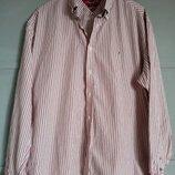 Брендовая рубашка. рубашка в полоску. качественная рубашка . хилфигер