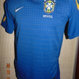 Спортивная оригинальная футбольная футболка .зб Бразилии Nike Найк .11-14 лет .