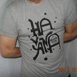 Стильная катоновая фирменная футболка бренд Climate Naturel.м-л .