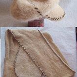 Комплект из ангоры, шарф и кепка