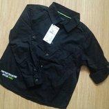 Чудесная рубашка с длинным рукавом для мальчика kiabi франция. р.114/119 на 5-6 лет