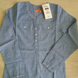 Джинсовая блуза-рубашка для девушки cool club польша. р.152