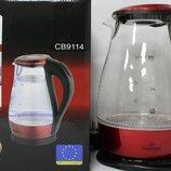 Электрочайник стеклянный с подсветкой Crownberg CB-9114