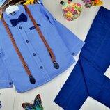 Детский шикарный нарядный классический костюм с бабочкой