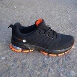 подростковые кроссовки bonote sport 36-41р черные с оранжевым