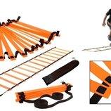Координационная лестница дорожка для тренировки скорости 4607 10м, 20 перекладин 10мx0,52мx2мм