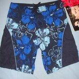 шорты мужские плавательные размер М 46-48 синие на пляж плавки