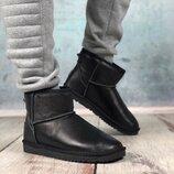 Угги Leather Black черные