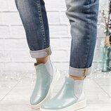 Код 2915 Демисезонные высокие ботинки Натуральная итальянская кожа Внутри байка Высота подошва 3.5/2