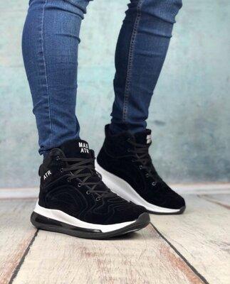 Мужские зимние ботинки ATR черные, высокие кроссовки