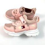 Кроссовки-Носок для девочки OFF пудра р.27,28,29,30,31,32