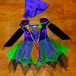 платье 3-4 года Ladybird ведьма 104 размер новогоднее карнавальное
