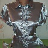 Изысканная атласная блузка select