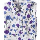 Брендовая блуза damart принт цветы этикетка