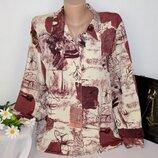 Брендовая блуза elsie whiteley англия принт цветы