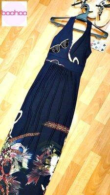 Оригинальное платье макси Boohoo с открытой спиной, пр-во Англия.