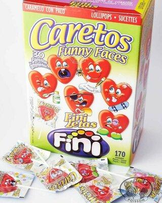 Блок леденцов на палочке Fini Funny Faces