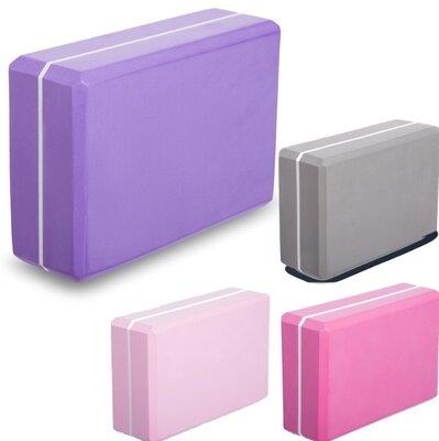 Блок для йоги двухцветный 1714 йога блок размер 23х15х7,5см 4 цвета