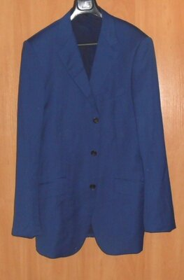красивый синий мужской пиджак 52 размер