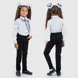 Детские стильные брюки 4-164 Трикотаж Стрелки в школьных расцветках