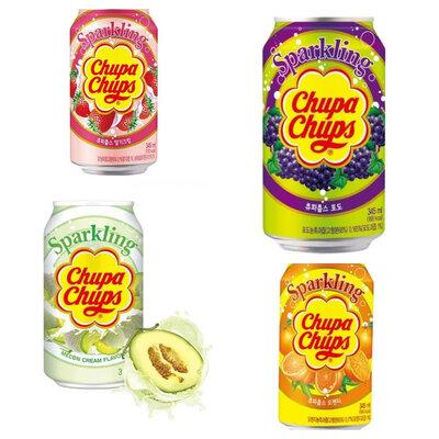 Питьевой Chupa Chups Sparkling Strawberry Клубника со сливками