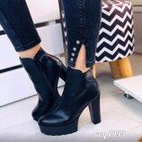 Женские шикарные кожаные и замшевые ботильоны