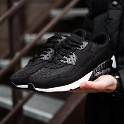 Мужские кроссовки nike 90 найк 90 черные белые стильные и ноские