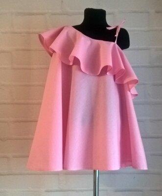 Платье для девочки. платье детское нежно-розового цвета. 100% коттон рр 110-140