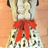 Летнее платье для девочки из 100% хлопка
