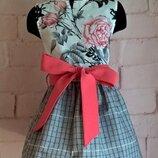 Платье для девочки. платье детское с цветочным принтом, 100% хлопок 110-140рр