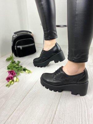Трендовые Кожаные женские туфли брэнд YDG-Bellini