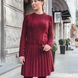 Вязаное платье, 5 цветов