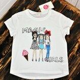 Низкая цена-супер качество Стильные футболки для девочки Венгрия