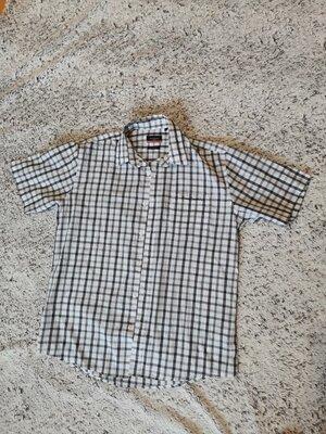 Рубашка летняя, рубашка коротний рукав, Pierre cardin, клетка