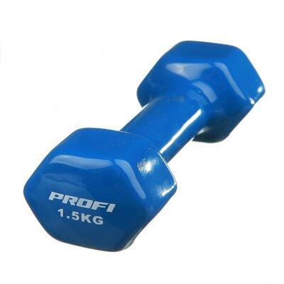 Гантель виниловая Profi 1.5 кг 0665 Синяя