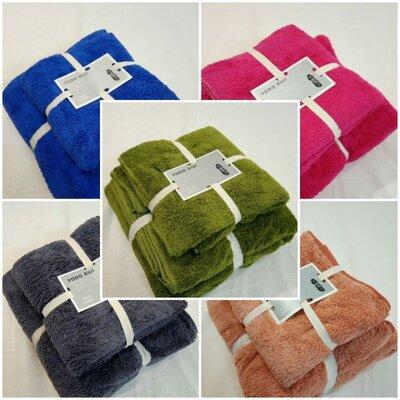 Набор полотенец подарочный размером 140х70 см и 75х35 см