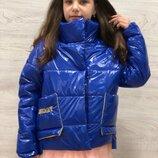 Модная куртка Smile energy электрик Лак Весна