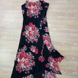 Стильный, длинный, цветной сарафан, платье