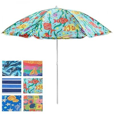 Зонт пляжный d1.8м с наклоном серебро MH-0035